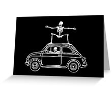 Fiat Surfing Greeting Card