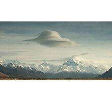 Lower Tasman Valley New Zealand - Lenticular clouds Photographic Print