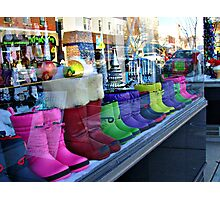 Rainbow Boots for Sale Photographic Print