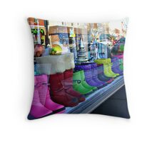 Rainbow Boots for Sale Throw Pillow