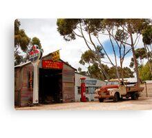 Australian Heritage Town Garage Canvas Print