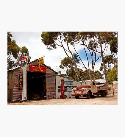 Australian Heritage Town Garage Photographic Print