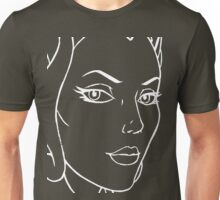 She-Ra Princess of Power - Looking Right - Large Image - White Line Art Unisex T-Shirt