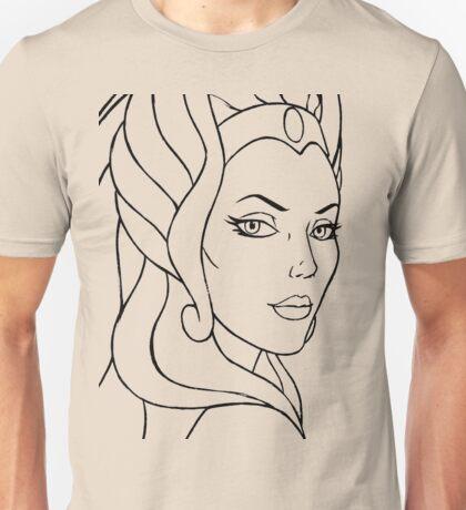 She-Ra Princess of Power - Looking Over Shoulder - Black Line Art Unisex T-Shirt