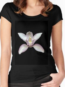 White Orchid TShirt Hoodie Women's Fitted Scoop T-Shirt