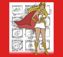She-Ra Princess of Power - Transformation Storyboard Background Kids Tee