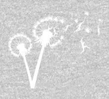 Dandylion Flight - white silhouette One Piece - Short Sleeve