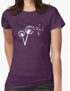 Dandylion Flight - white silhouette Womens T-Shirt