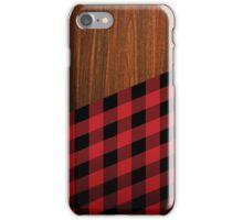Wooden Lumberjack iPhone Case/Skin