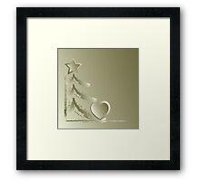 Heart for Christmas Framed Print