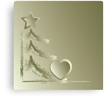 Heart for Christmas Canvas Print