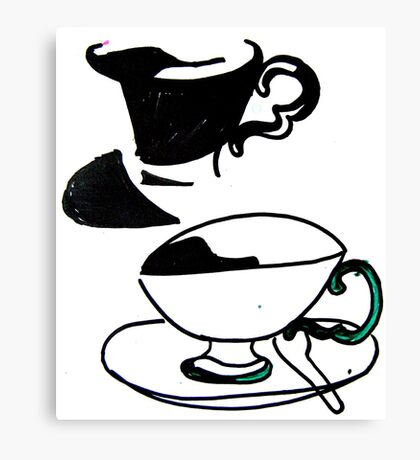 tea cup's Canvas Print
