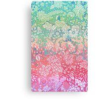Soft Pastel Rainbow Doodle Canvas Print