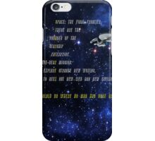 Space: The Final Frontier - Acrostic iPhone Case/Skin