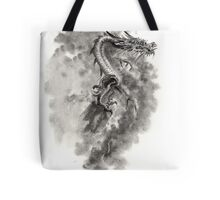 Water Wind dragon dragons sumi-e ink painting chinese zodiac five elements fantasy world art Tote Bag