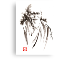 Morihei Ueshiba Sensei Aikido martial arts japan japanese master sum-e portrait founder Canvas Print