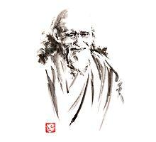 Morihei Ueshiba Sensei Aikido martial arts japan japanese master sum-e portrait founder Photographic Print