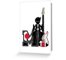 M is For Mod Greeting Card