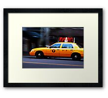 NYC Taxi Framed Print
