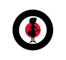 Mod Girl On Target Photographic Print