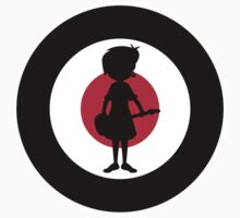 Mod Girl On Target Kids Tee