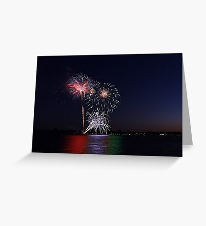 New Year Day Fireworks 2014  Greeting Card