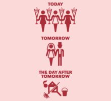 Today – Tomorrow – The Day After Tomorrow (Hen Party / Red) by MrFaulbaum