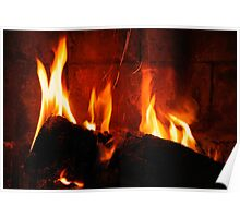 a cozy fire to keep you warm.. Poster