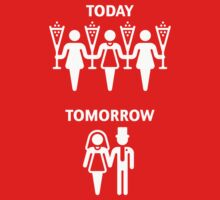 Today – Tomorrow – (Hen Party / White) by MrFaulbaum