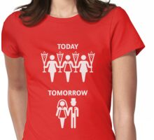 Today – Tomorrow – (Hen Party / White) Womens Fitted T-Shirt