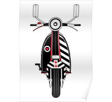 Retro Mod Scooter Poster