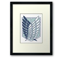 Shingeki no Kyojin Survey Corps Logo / Symbol Framed Print
