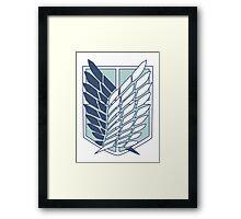 Shingeki no Kyojin Survey Corps Logo / Symbol Framed Print
