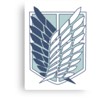 Shingeki no Kyojin Survey Corps Logo / Symbol Canvas Print
