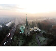 St Andrews Church in the mist Photographic Print