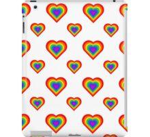 Rainbow Hearts Pattern iPad Case/Skin