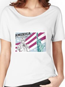 USA tourism  Women's Relaxed Fit T-Shirt