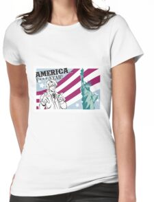 USA tourism  Womens Fitted T-Shirt