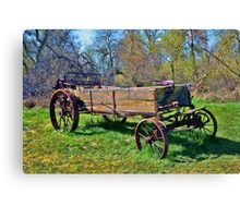 Iron-Wheeled Hay Harvester Canvas Print