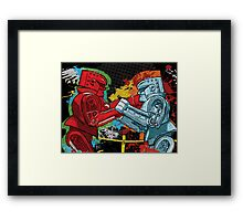 Clash of the Robot Titans Framed Print