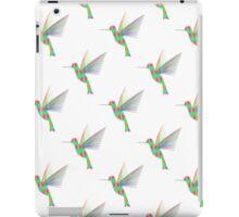 Rainbow Hummingbirds Pattern iPad Case/Skin