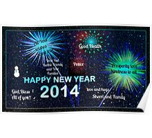 HAPPY NEW YEAR DEAR REDBUBBLE FRIENDS Poster