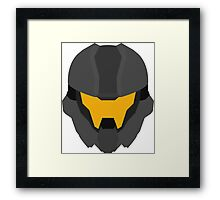 Halo Helmet Graphic Framed Print
