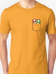 Red Green Mushrooms In Pocket Unisex T-Shirt