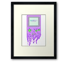 The Gameboy Melt Framed Print