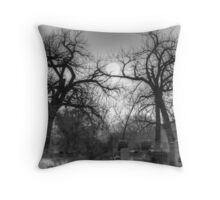 Sunrise at Greenwood Cemetary Throw Pillow