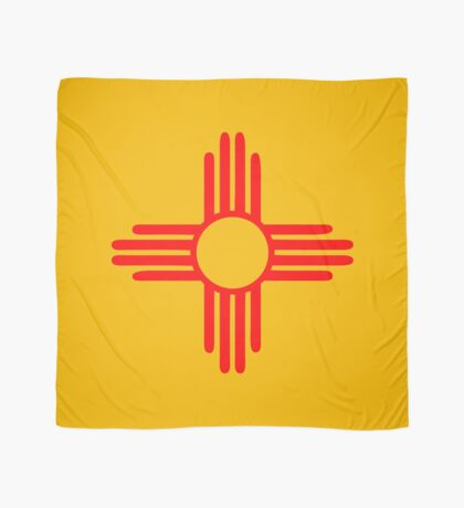 new mexico sun zia indian symbol Scarf
