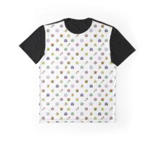 Super Mario World pixel item pattern Star Mushroom Flower Graphic T-Shirt