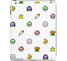 Super Mario World pixel item pattern Star Mushroom Flower iPad Case/Skin