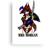 Mrs Morgan Canvas Print